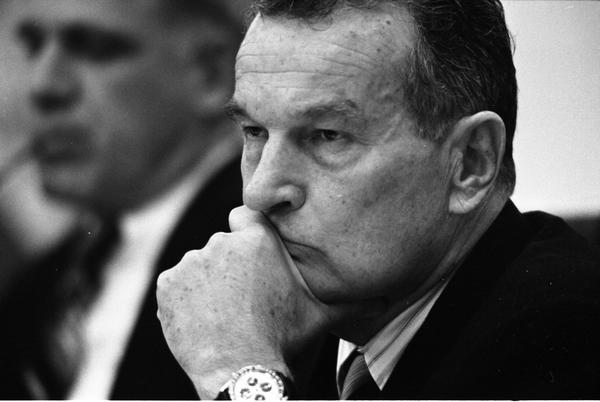 William Clements attends a National Security Council Meeting regarding the seizure of the SS Mayaguez in the White House Cabinet Room, 5/13/1975.